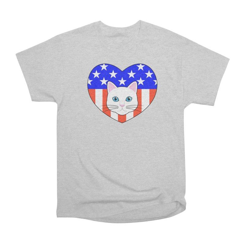 ALL AMERICAN CAT LOVER Men's Classic T-Shirt by CAT IN ORBIT Artist Shop