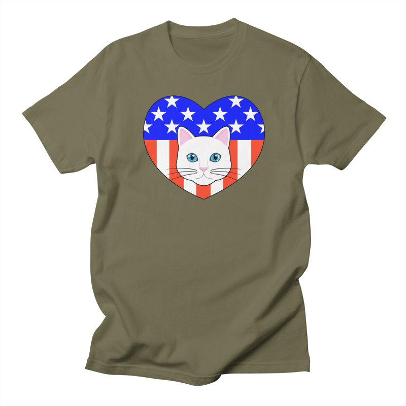 ALL AMERICAN CAT LOVER Women's Unisex T-Shirt by CAT IN ORBIT Artist Shop