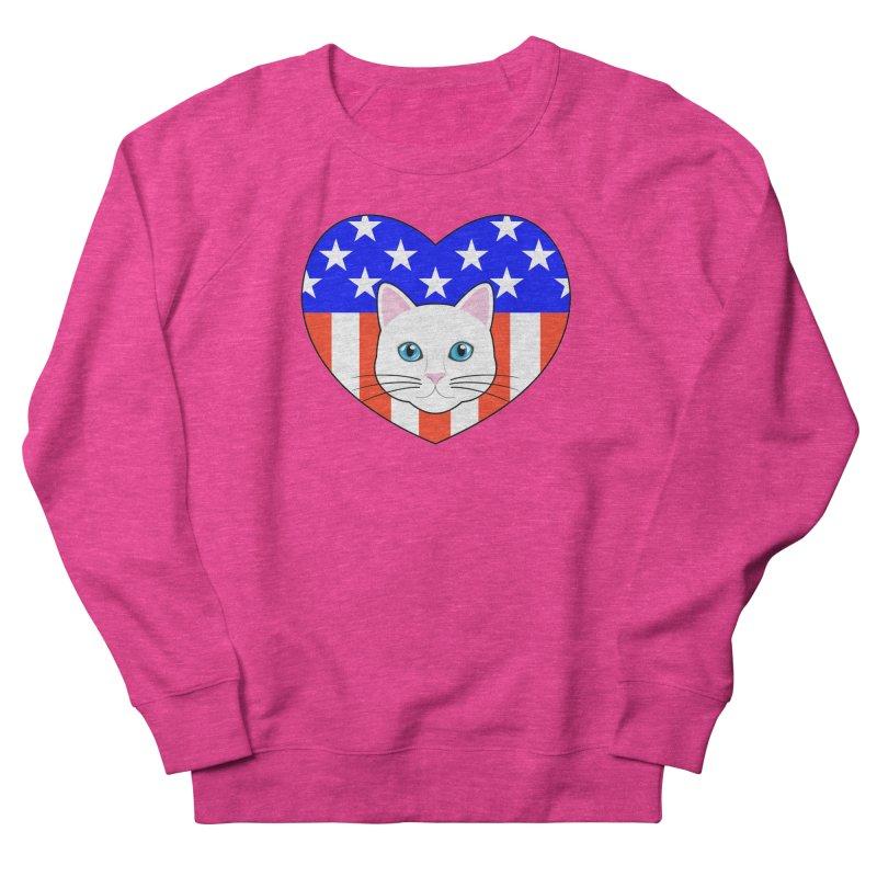 ALL AMERICAN CAT LOVER Women's Sweatshirt by CAT IN ORBIT Artist Shop