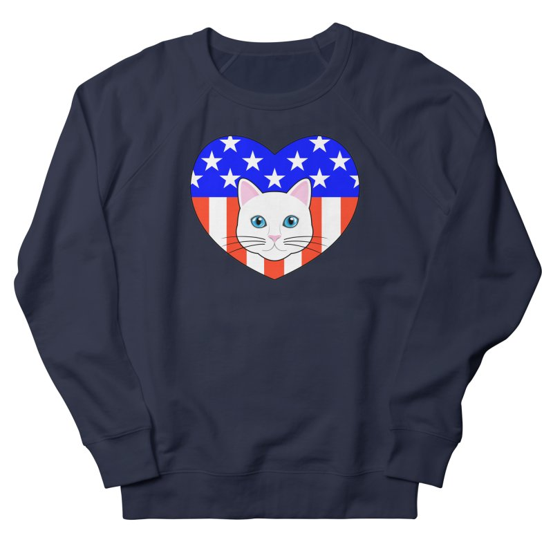 ALL AMERICAN CAT LOVER Men's Sweatshirt by CAT IN ORBIT Artist Shop