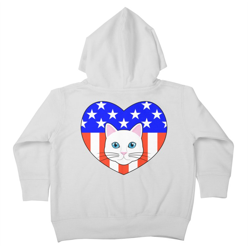 ALL AMERICAN CAT LOVER Kids Toddler Zip-Up Hoody by CAT IN ORBIT Artist Shop