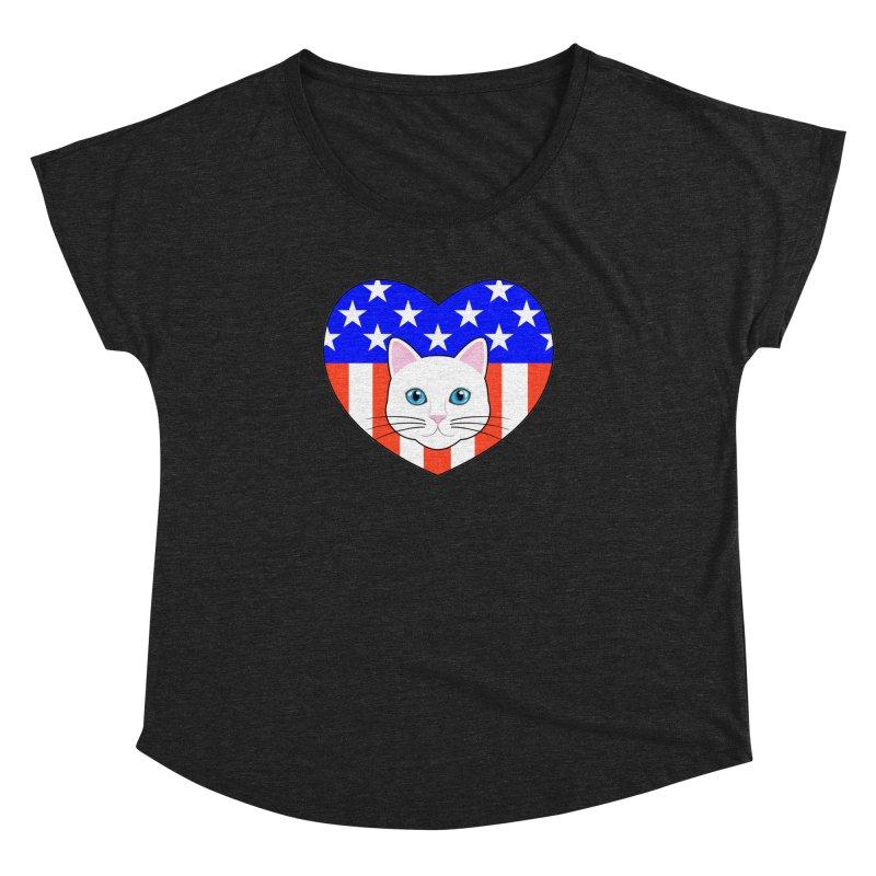 ALL AMERICAN CAT LOVER Women's Dolman by CAT IN ORBIT Artist Shop
