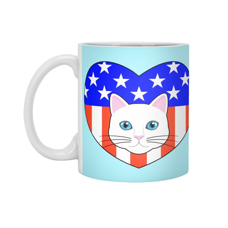 ALL AMERICAN CAT LOVER Accessories Mug by CAT IN ORBIT Artist Shop
