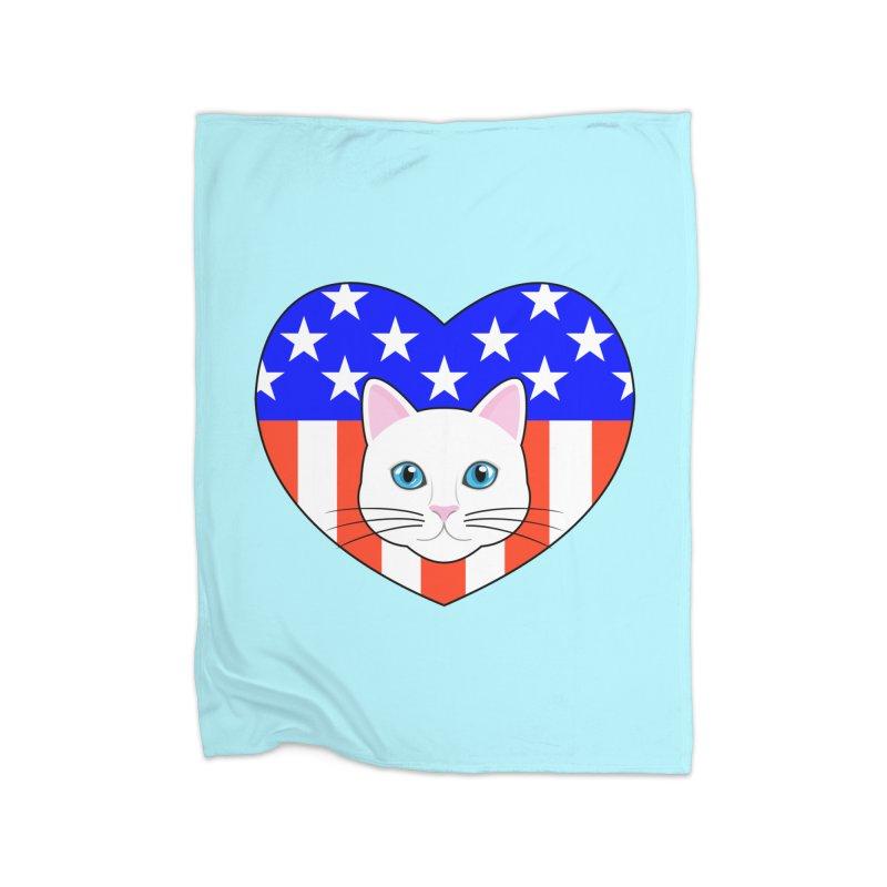 ALL AMERICAN CAT LOVER Home Blanket by CAT IN ORBIT Artist Shop