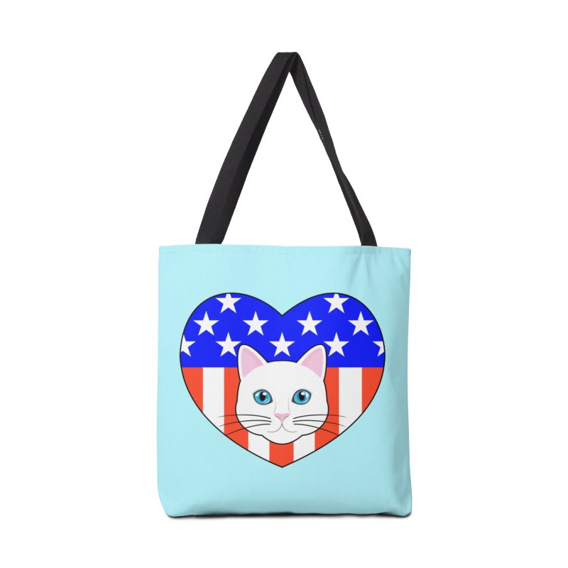 ALL AMERICAN CAT LOVER Accessories Bag by CAT IN ORBIT Artist Shop