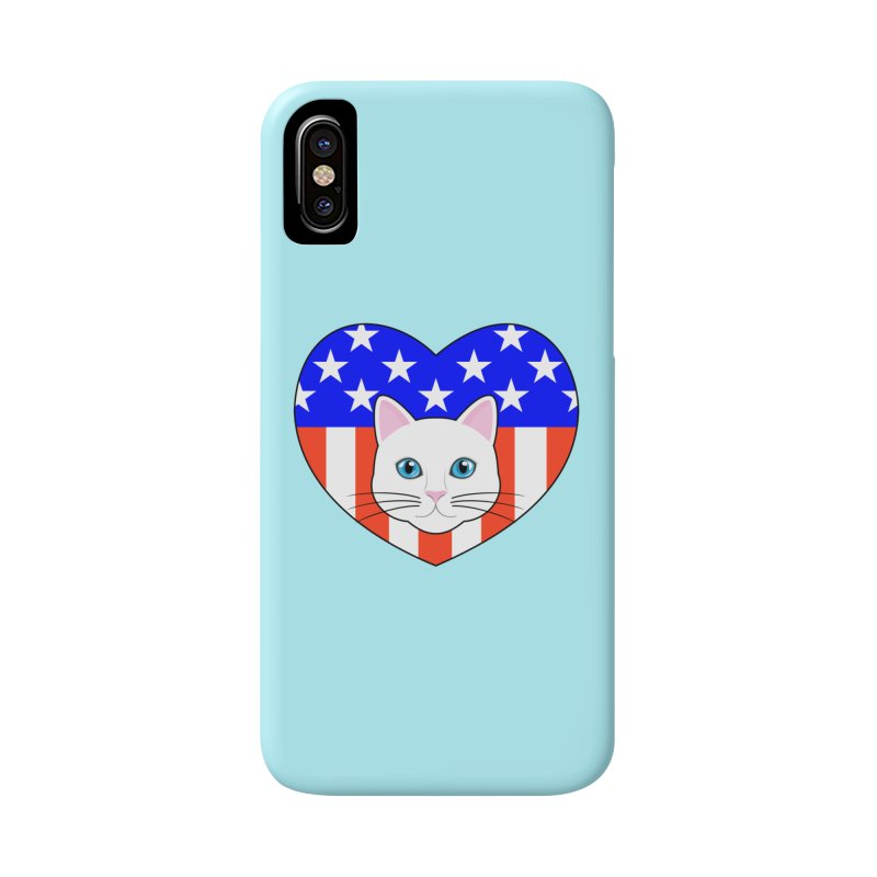 ALL AMERICAN CAT LOVER Accessories Phone Case by CAT IN ORBIT Artist Shop