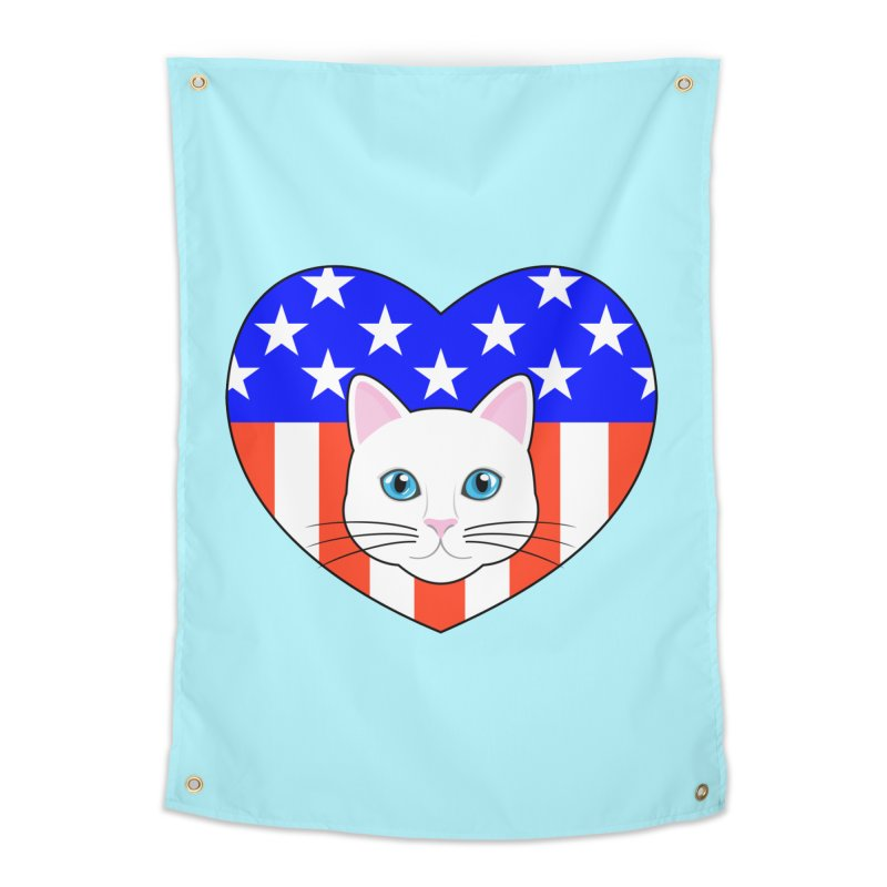 ALL AMERICAN CAT LOVER Home Tapestry by CAT IN ORBIT Artist Shop