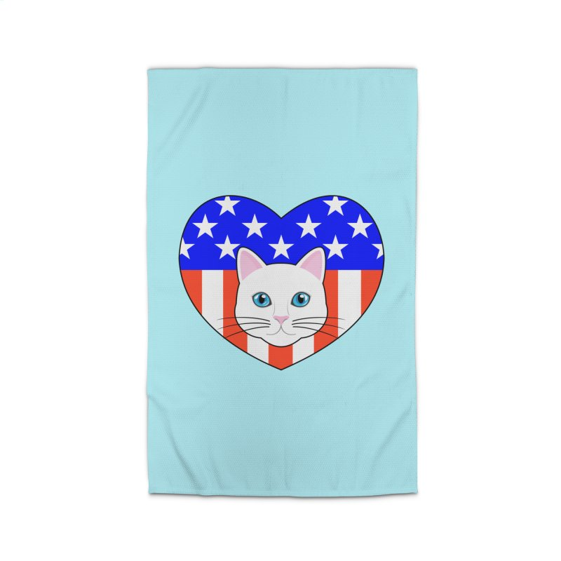 ALL AMERICAN CAT LOVER Home Rug by CAT IN ORBIT Artist Shop