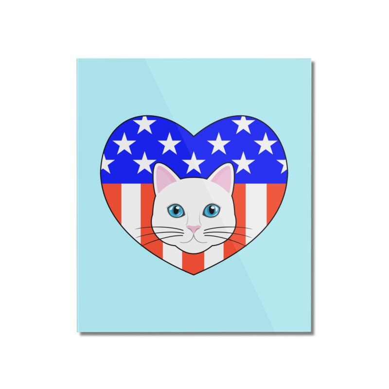 ALL AMERICAN CAT LOVER Home Mounted Acrylic Print by CAT IN ORBIT Artist Shop