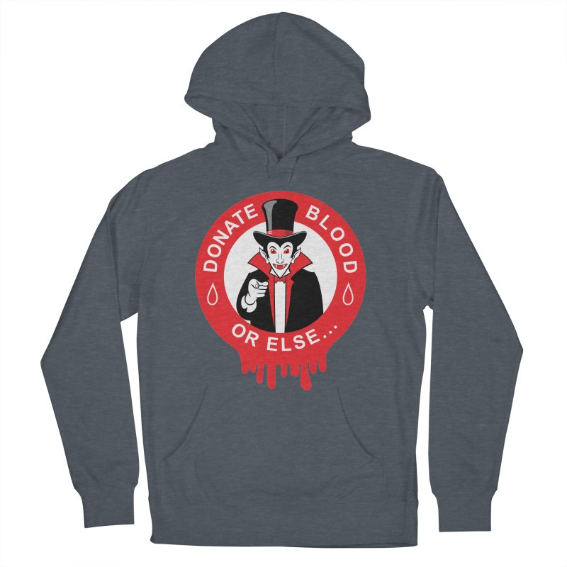DONATE BLOOD Men's Pullover Hoody by CAT IN ORBIT Artist Shop