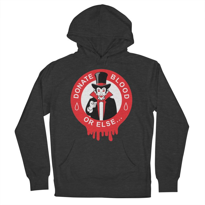 DONATE BLOOD Men's French Terry Pullover Hoody by CAT IN ORBIT Artist Shop