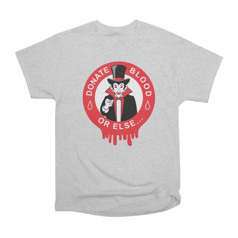 DONATE BLOOD Women's Heavyweight Unisex T-Shirt by CAT IN ORBIT Artist Shop