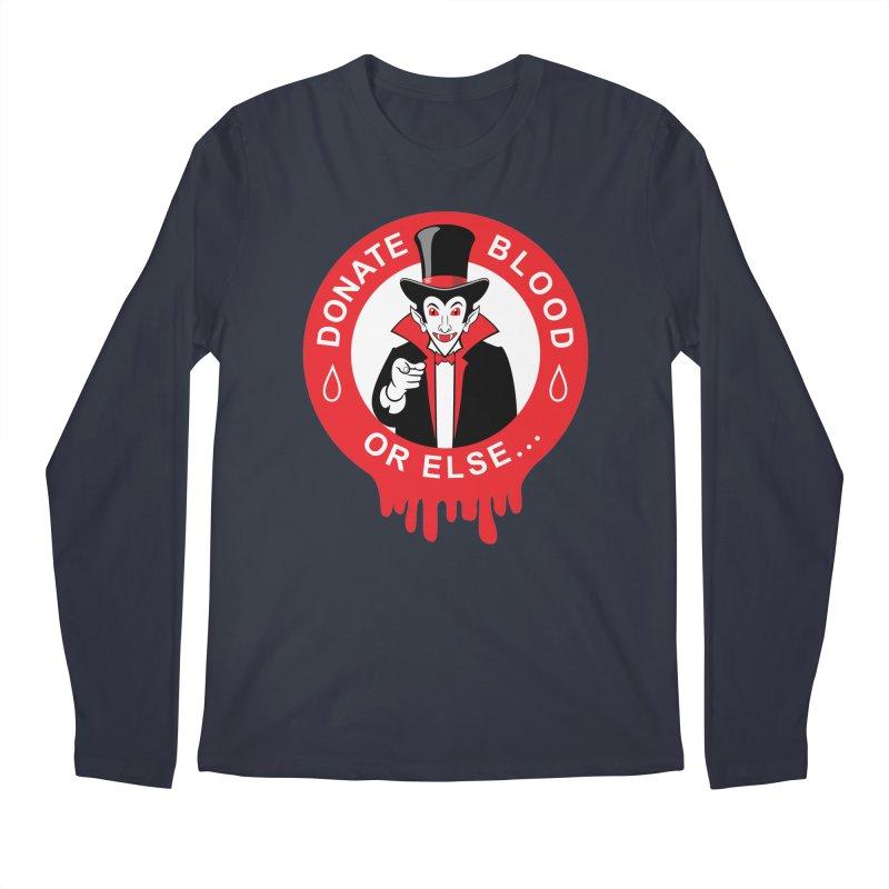 DONATE BLOOD Men's Longsleeve T-Shirt by CAT IN ORBIT Artist Shop