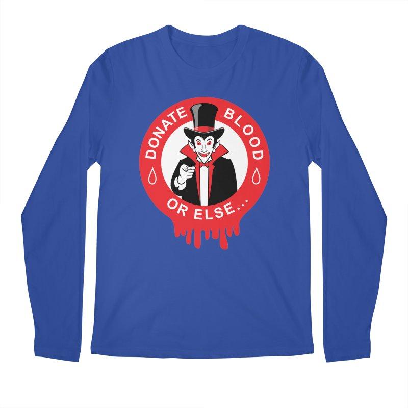 DONATE BLOOD Men's Regular Longsleeve T-Shirt by CAT IN ORBIT Artist Shop