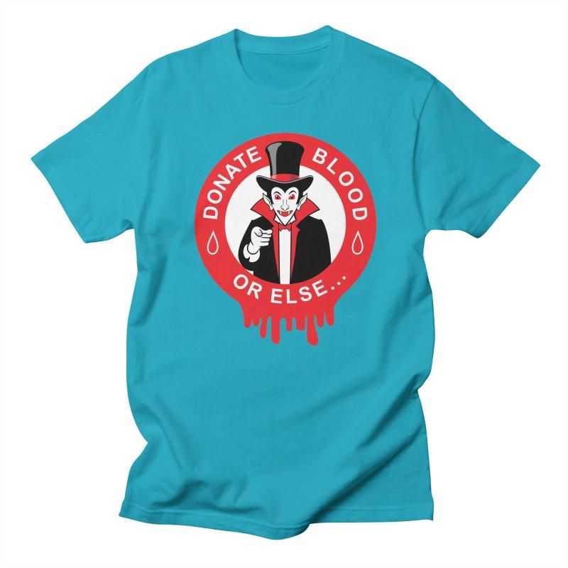 DONATE BLOOD Women's Regular Unisex T-Shirt by CAT IN ORBIT Artist Shop