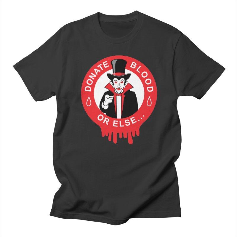 DONATE BLOOD Men's Regular T-Shirt by CAT IN ORBIT Artist Shop
