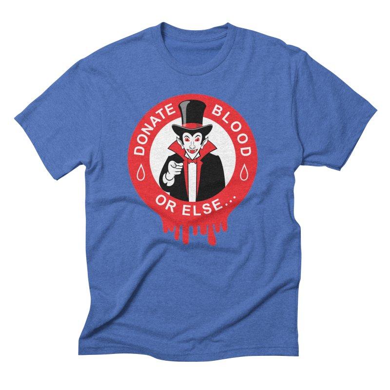 DONATE BLOOD Men's Triblend T-Shirt by CAT IN ORBIT Artist Shop