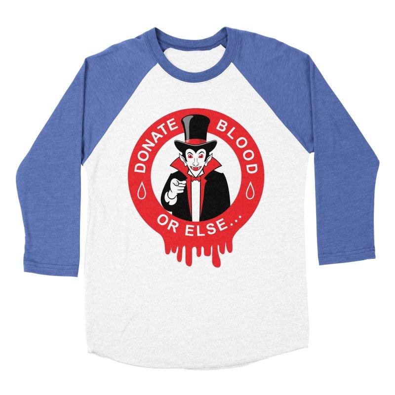 DONATE BLOOD Women's Baseball Triblend Longsleeve T-Shirt by CAT IN ORBIT Artist Shop