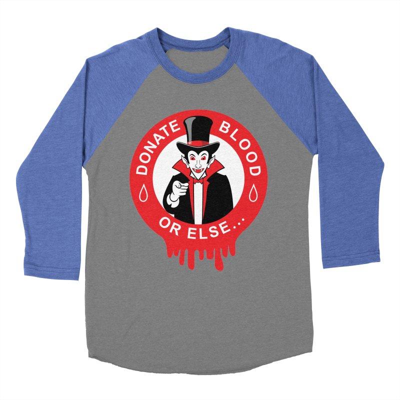 DONATE BLOOD Men's Baseball Triblend T-Shirt by CAT IN ORBIT Artist Shop