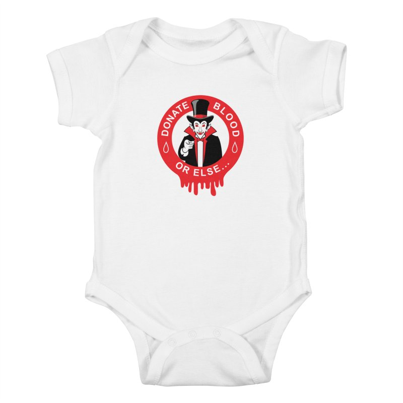 DONATE BLOOD Kids Baby Bodysuit by CAT IN ORBIT Artist Shop