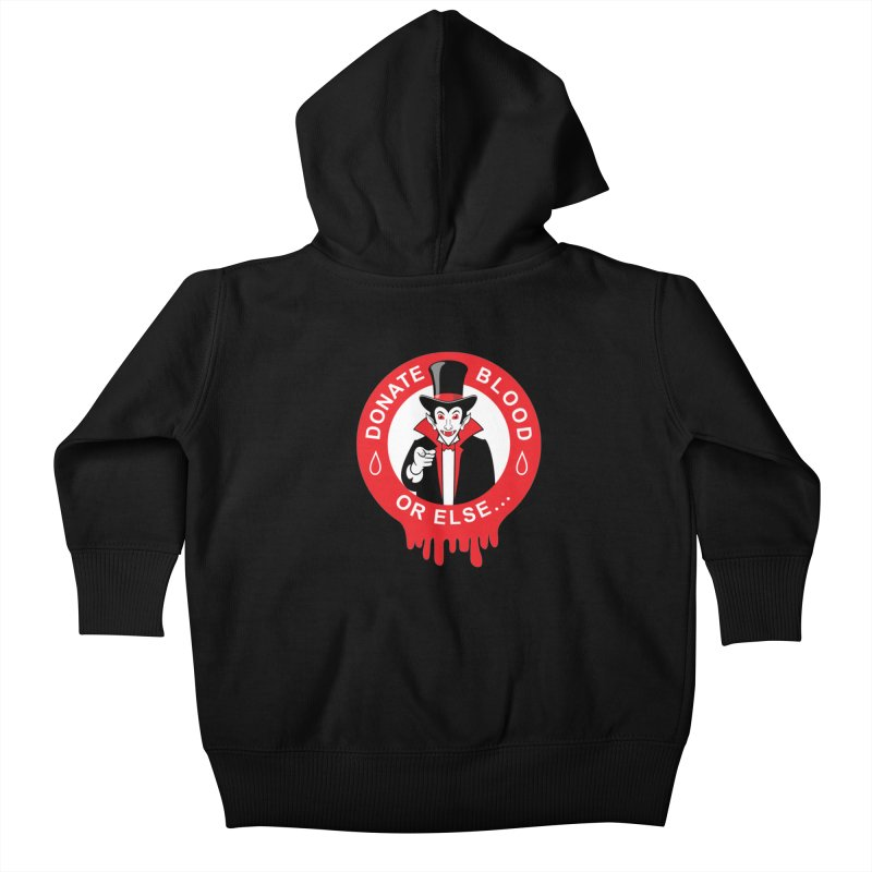 DONATE BLOOD Kids Baby Zip-Up Hoody by CAT IN ORBIT Artist Shop