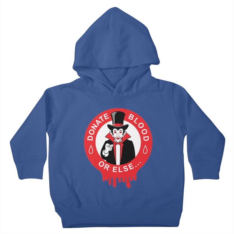 DONATE BLOOD Kids Toddler Pullover Hoody by CAT IN ORBIT Artist Shop