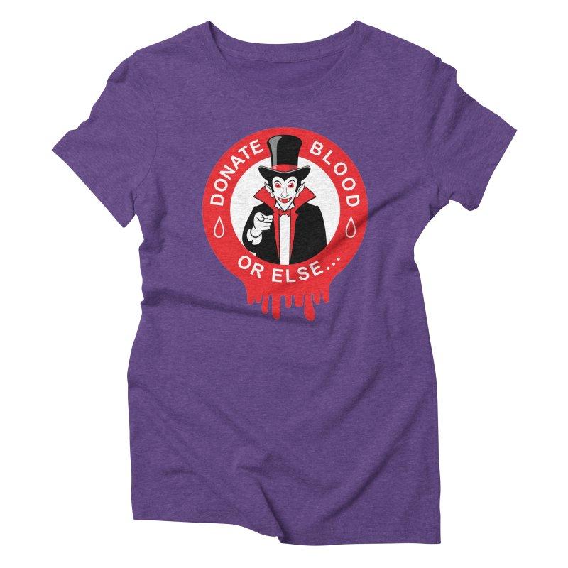 DONATE BLOOD Women's Triblend T-Shirt by CAT IN ORBIT Artist Shop