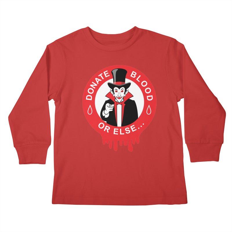 DONATE BLOOD Kids Longsleeve T-Shirt by CAT IN ORBIT Artist Shop