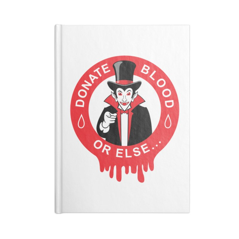 DONATE BLOOD Accessories Notebook by CAT IN ORBIT Artist Shop
