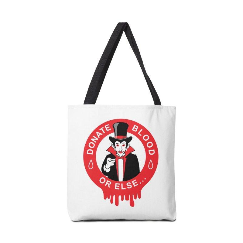 DONATE BLOOD Accessories Bag by CAT IN ORBIT Artist Shop