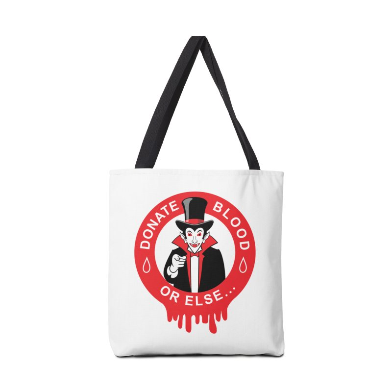 DONATE BLOOD Accessories Bag by CAT IN ORBIT Artist Shop