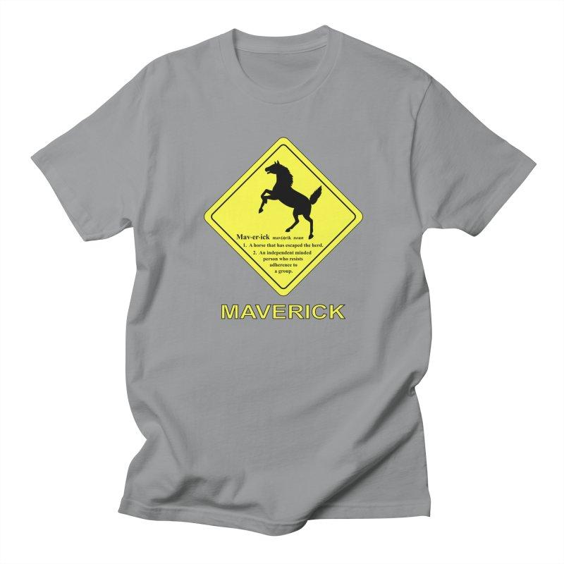 MAVERICK Men's Regular T-Shirt by CAT IN ORBIT Artist Shop