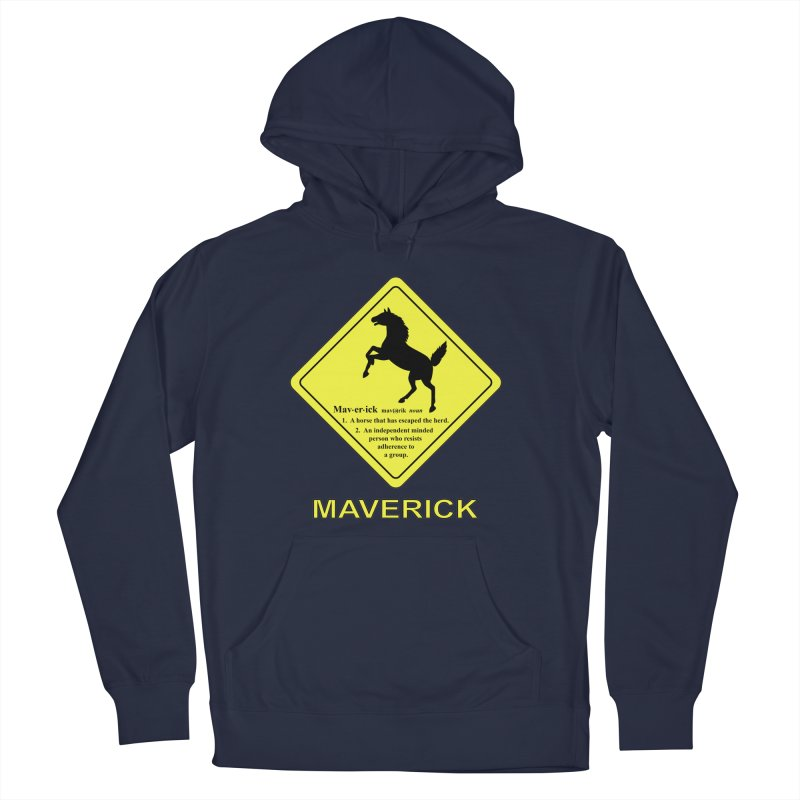 MAVERICK Women's French Terry Pullover Hoody by CAT IN ORBIT Artist Shop