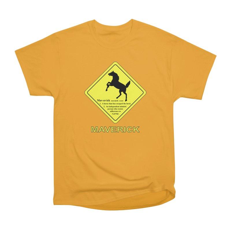 MAVERICK Women's Classic Unisex T-Shirt by CAT IN ORBIT Artist Shop