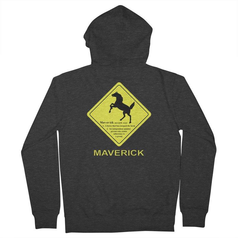 MAVERICK Men's Zip-Up Hoody by CAT IN ORBIT Artist Shop