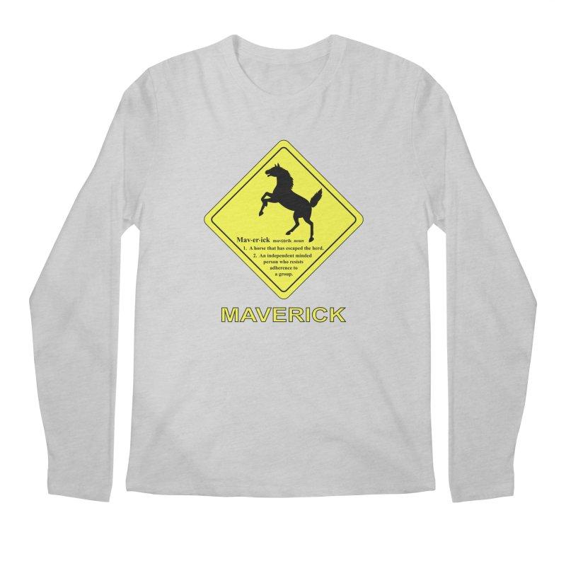 MAVERICK Men's Longsleeve T-Shirt by CAT IN ORBIT Artist Shop