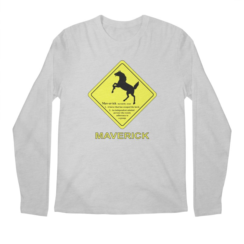 MAVERICK Men's Regular Longsleeve T-Shirt by CAT IN ORBIT Artist Shop