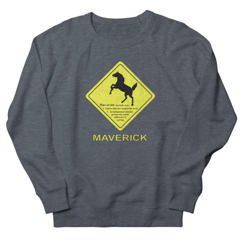 MAVERICK Women's French Terry Sweatshirt by CAT IN ORBIT Artist Shop