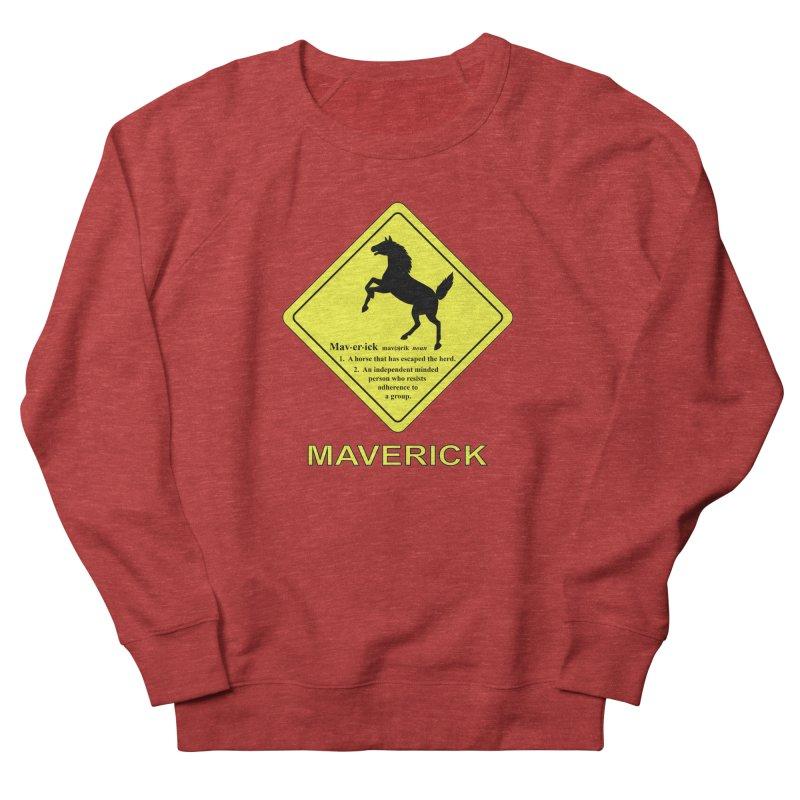 MAVERICK Men's French Terry Sweatshirt by CAT IN ORBIT Artist Shop