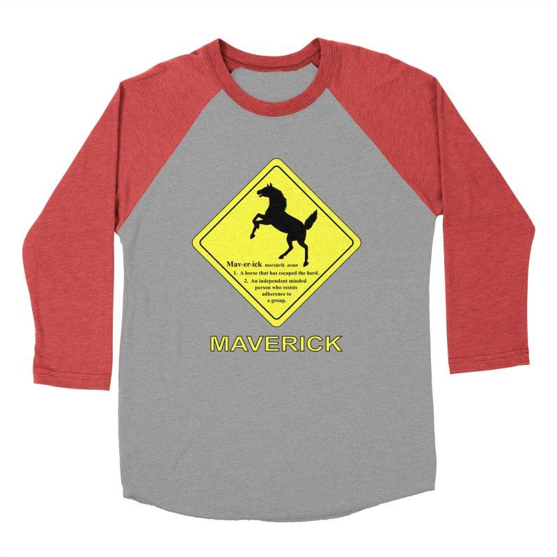 MAVERICK Men's Baseball Triblend T-Shirt by CAT IN ORBIT Artist Shop
