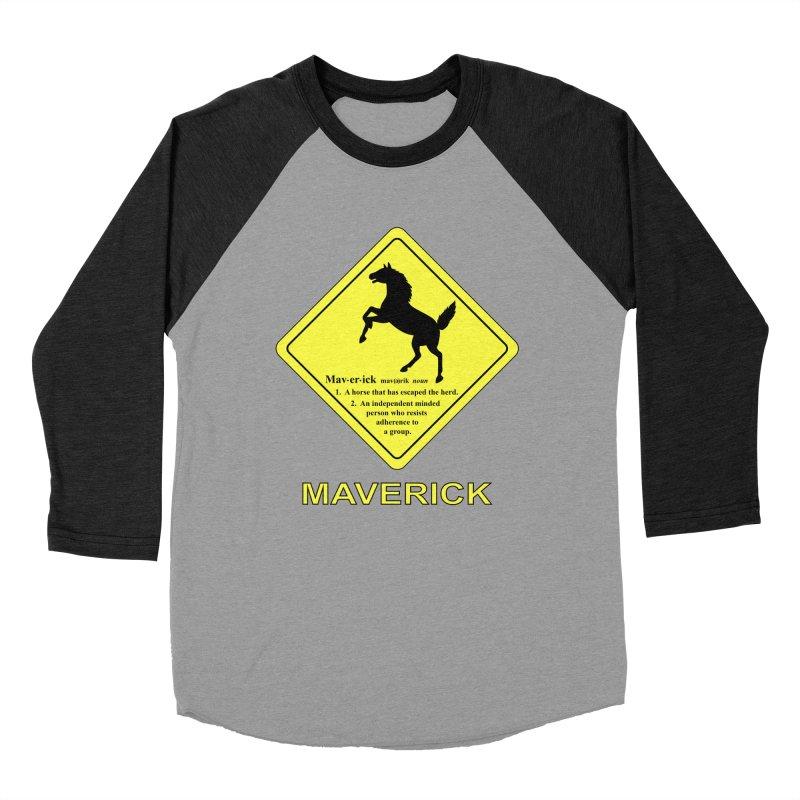 MAVERICK Men's Baseball Triblend Longsleeve T-Shirt by CAT IN ORBIT Artist Shop