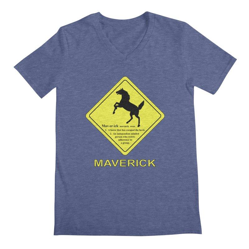 MAVERICK Men's Regular V-Neck by CAT IN ORBIT Artist Shop