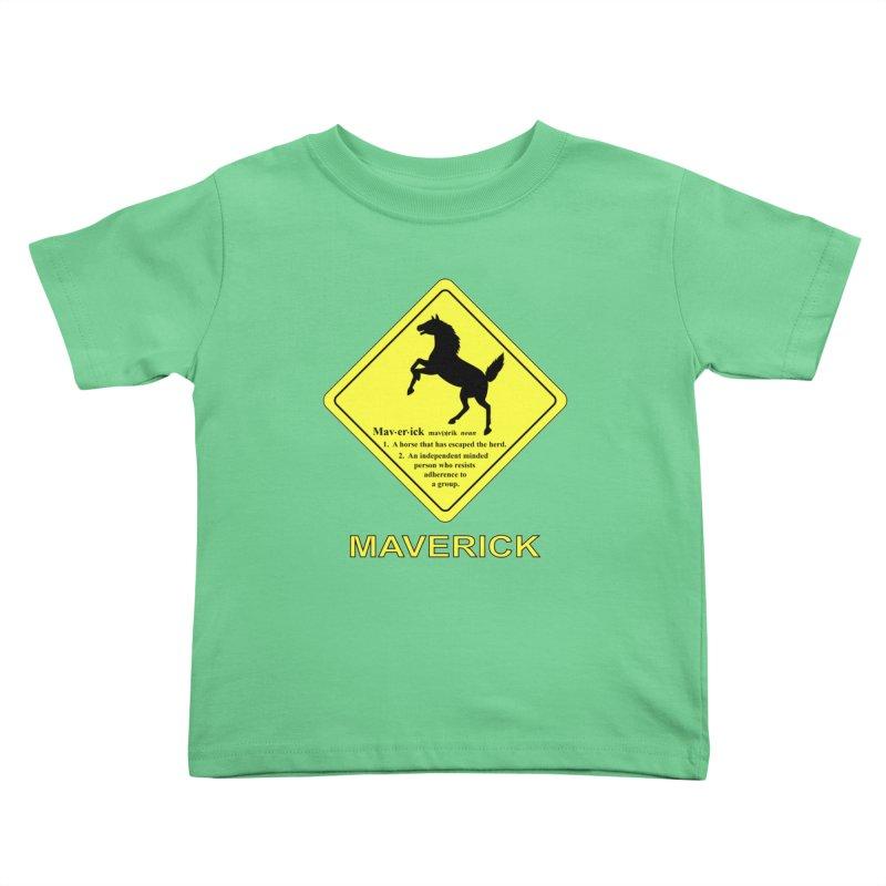 MAVERICK Kids Toddler T-Shirt by CAT IN ORBIT Artist Shop