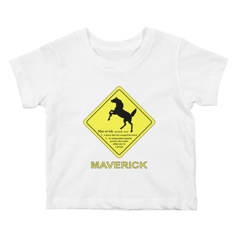 MAVERICK Kids Baby T-Shirt by CAT IN ORBIT Artist Shop