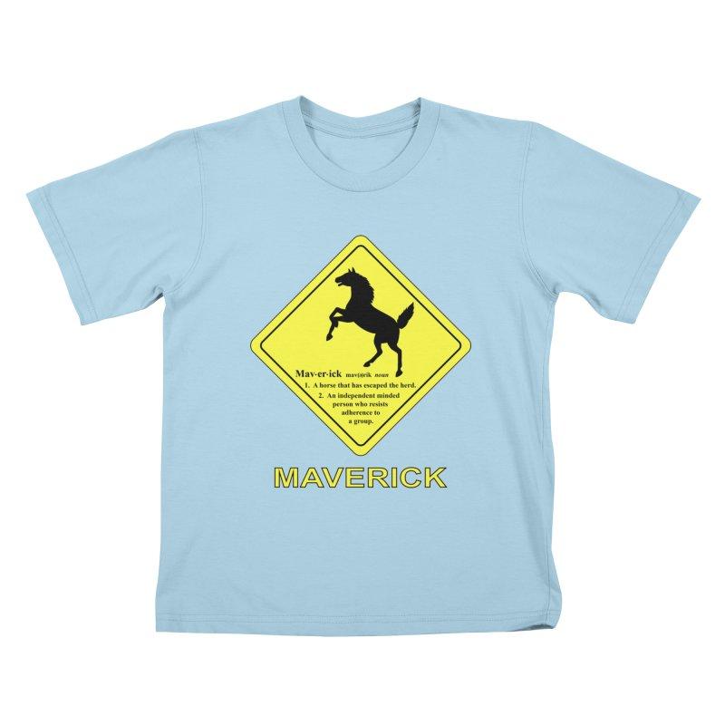 MAVERICK Kids T-Shirt by CAT IN ORBIT Artist Shop