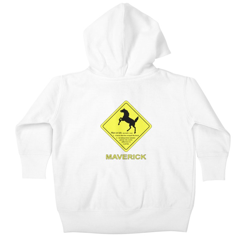 MAVERICK Kids Baby Zip-Up Hoody by CAT IN ORBIT Artist Shop