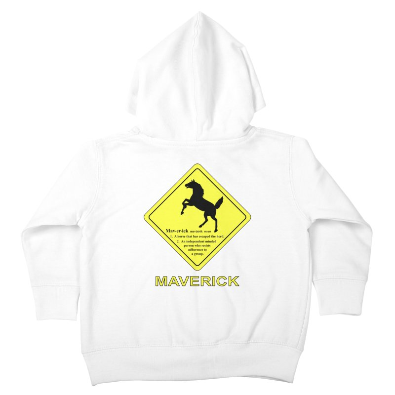 MAVERICK Kids Toddler Zip-Up Hoody by CAT IN ORBIT Artist Shop