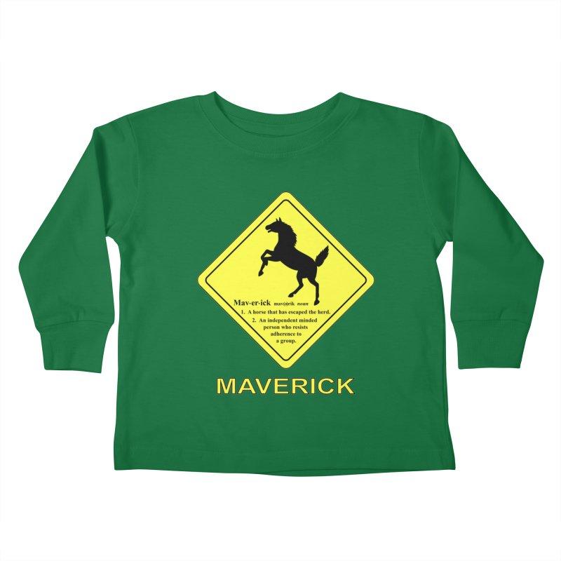 MAVERICK Kids Toddler Longsleeve T-Shirt by CAT IN ORBIT Artist Shop