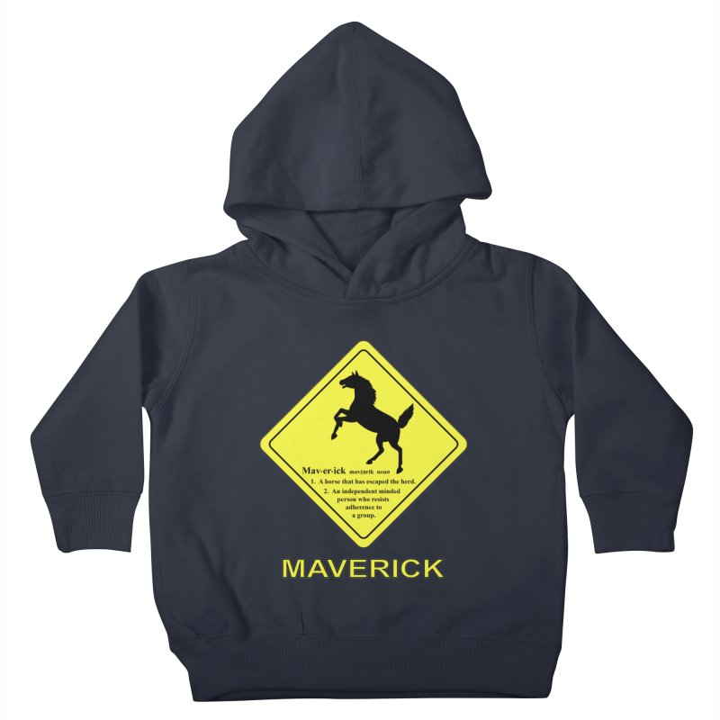 MAVERICK Kids Toddler Pullover Hoody by CAT IN ORBIT Artist Shop
