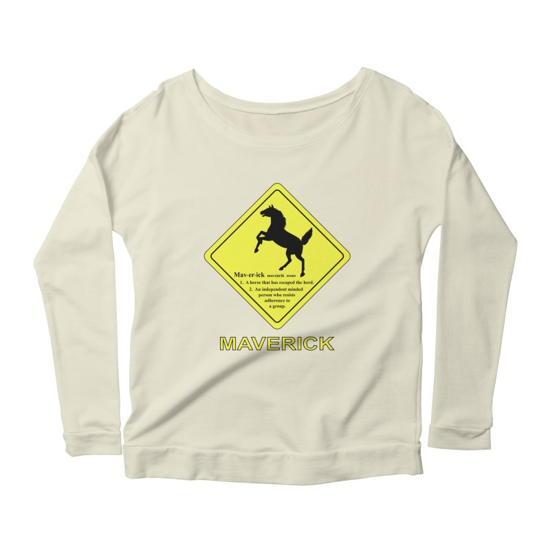 MAVERICK Women's Longsleeve Scoopneck  by CAT IN ORBIT Artist Shop